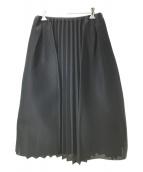 CLEANA(クリーナ)の古着「メッシュフレアスカート」|ブラック