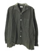 COMME des GARCONS HOMME(コムデギャルソンオム)の古着「オープンカラーシャツ」 オリーブ