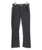 RE/DONE(リダン)の古着「ストレッチフレアデニムパンツ」 ブラック