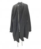 DAMIR DOMA(ダミールドマ)の古着「ジップウールコート」|ブラック