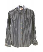 V.W. RED LABEL(ヴィヴィアンウエストウッドレッドレーベル)の古着「ストライプシャツ」|ネイビー