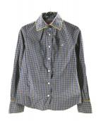 V.W. RED LABEL(ヴィヴィアンウエストウッドレッドレーベル)の古着「チェックシャツ」|ネイビー