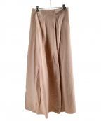 ELIN(エリン)の古着「サテンロングスカート」|ライトピンク