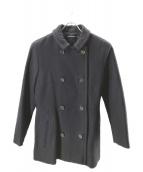 SOFIE DHOORE(ソフィードール)の古着「ダブルボタンウールコート」|ネイビー
