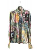 DRIES VAN NOTEN(ドリスバンノッテン)の古着「総柄カフスシャツ」|マルチカラー