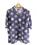 BROWN by 2-tacs(ブラウンバイツータックス)の古着「雪柄アロハシャツ」 ネイビー