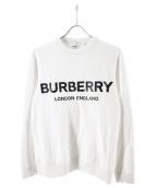 BURBERRY(バーバリー)の古着「クルーネックロゴスウェット」|ホワイト