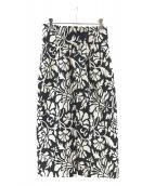 CADUNE(カデュネ)の古着「ジャガードタイトスカート」 ブラック