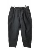 FLAGSTUFF(フラグスタフ)の古着「タックワイドパンツ」|ブラック