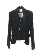 Vivienne Westwood(ヴィヴィアンウエストウッド)の古着「ベロアデザインセットアップ」|ブラック