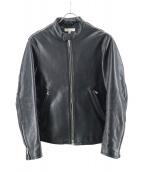 BEAUTY&YOUTH(ビューティーアンドユース)の古着「シングライダースレザージャケット」|ブラック