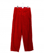 the nerdys(ザナーディーズ)の古着「FASTENER corduroy pants」|レッド