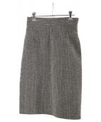 PRADA(プラダ)の古着「ツイードスカート」 グレー
