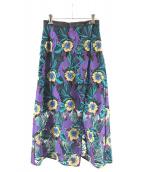 GRACE CONTINENTAL(グレースコンチネンタル)の古着「ロング刺繍スカート」|マルチカラー