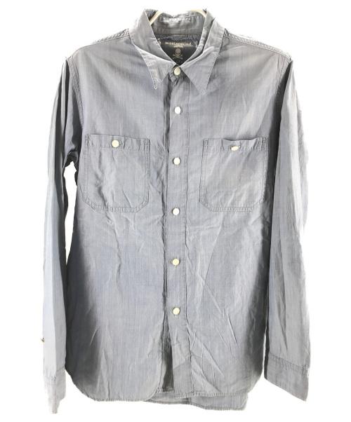 Mastermind JAPAN(マスターマインド ジャパン)Mastermind JAPAN (マスターマインドジャパン) バックステンシルシャツ ブルー サイズ:M TIMELESS期の古着・服飾アイテム