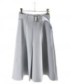 M-premierBLACK(エムプルミエブラック)の古着「ステッチポケットベルト付きスカート」 サックスブルー