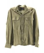 ()の古着「オープンカラーシルクシャツ」 カーキ