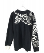 sacai(サカイ)の古着「Floral Pullover Sweater」|ブラック