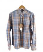 giannetto(ジャンネット)の古着「チェックシャツ」|ブルー×オレンジ