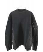 sacai(サカイ)の古着「Sponge Sweat×MA-1 Pullover」|ブラック