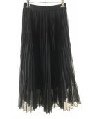 ANAYI(アナイ)の古着「マットオーガンジープリーツスカート」|ブラック