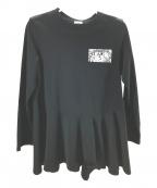 REKISAMI(レキサミ)の古着「ヘムフレアカットソー」|ブラック