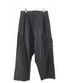 YohjiYamamoto pour homme(ヨウジヤマモトプールオム)の古着「サルエルカーゴパンツ」 ブラック