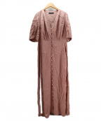 kei shirahata(ケイシラハタ)の古着「ジャガードサテンワンピース」 ピンク