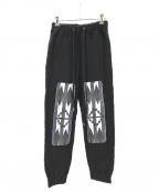 FACETASM()の古着「ORTEGA PATCH JERSEY PANTS」|ブラック