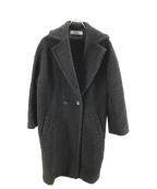 saqui(サキ)の古着「ビッグカラーボアコート」 ブラック