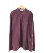 STONE ISLAND(ストーンアイランド)の古着「L/S BIGポロシャツ」|ワイン