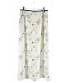 Mame Kurogouchi(マメ クロゴウチ)の古着「Floral Print Skirt」|ホワイト