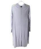 JOSEPH(ジョセフ)の古着「ニット切替ロングワンピース」|ラベンダー