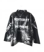 doublet(ダブレット)の古着「GARBAGE-BAG コーチジャケット」 ブラック