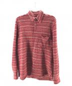 JUNYA WATANABE MAN(ジュンヤワタナベマン)の古着「再構築ウール混ボーダーシャツ」 レッド