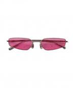AMBUSH(アンブッシュ)の古着「スクエアフレームサングラス」 ピンク