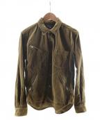 COMME des GARCONS HOMME(コムデギャルソン オム)の古着「ジップデザインコーデュロイシャツ」 ブラウン