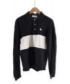 maison kitsune(メゾンキツネ)の古着「ワンポイントポロシャツ」|ブラック