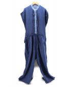 tsumori chisato(ツモリチサト)の古着「インディゴオールインワン」|ブルー