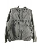 ()の古着「Overdyed Twill Hooded Jacket」 グレー