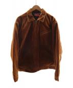 ()の古着「Velvet Work Jacket」 ブラウン