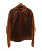 SUPREME()の古着「Velvet Work Jacket」|ブラウン