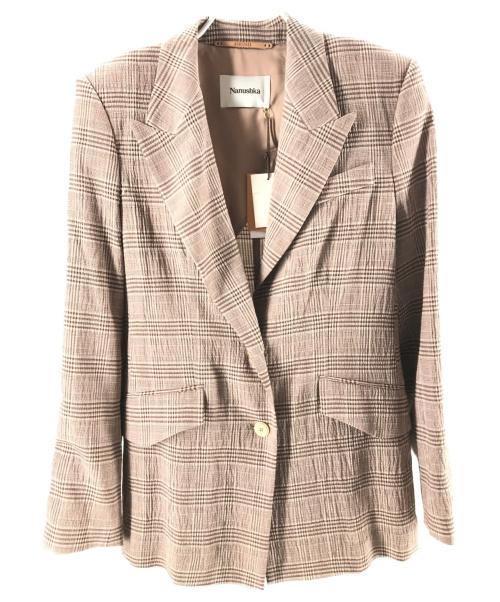 nanushka(ナヌーシュカ)nanushka (ナヌーシュカ) Single Breasted Blazer  ブラウン サイズ:Sの古着・服飾アイテム