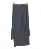 LEINWANDE(ラインヴァンド)の古着「Tie Knit Dress&Skirt」 ブラック