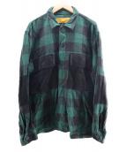 ()の古着「L/S BUFFALO CHECK SHIRT」|グリーン