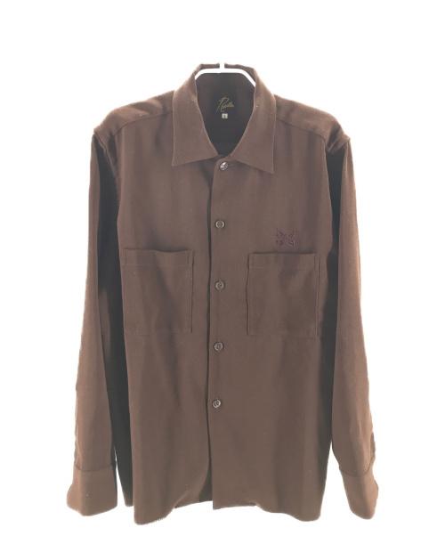 Needles(ニードルス)Needles (ニードルス) C.O.B. One-Up Shirt ブラウン サイズ:L 20SSの古着・服飾アイテム