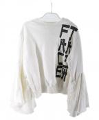 FACETASM(ファセッタズム)の古着「フレアスリーブスウェット」|ホワイト