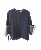 IRENE(アイレネ)の古着「デザインデニムプルオーバー」 ブルー