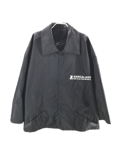 ANREALAGE(アンリアレイジ)ANREALAGE (アンリアレイジ) ZOOM NYLON BLOUSON ブラック サイズ:Mの古着・服飾アイテム