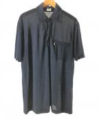 C.P COMPANY(シーピーカンパニー)の古着「ニットポロシャツ」|ネイビー